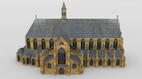3d medieval cathedral