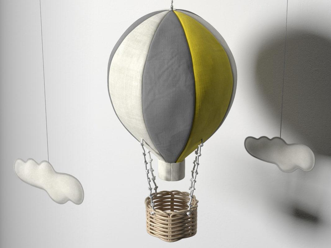 3d hot air balloon mobile