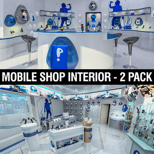 mobile phones shops 3d model