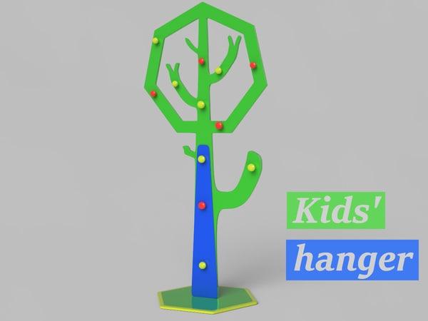 realistic hanger 3d model