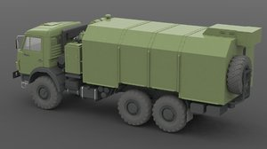 kamaz 43114 3d model