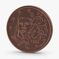 3d model 2-cent-euro-coin