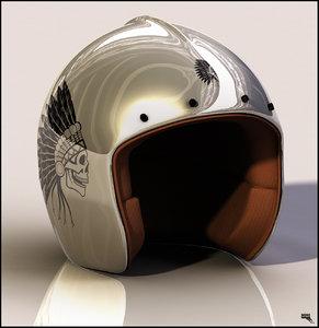 3d helmet jet