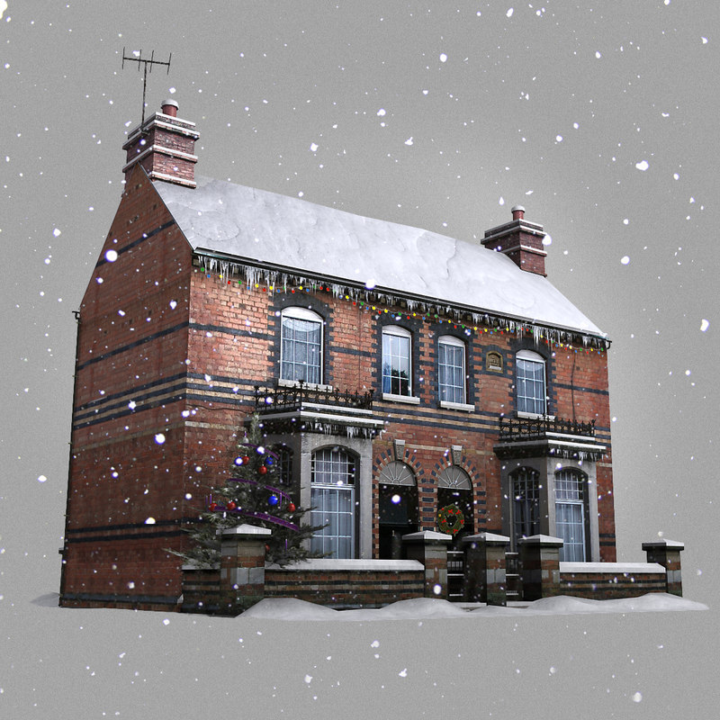 winter house real-time 3d max