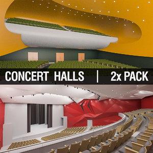 3d concert halls model