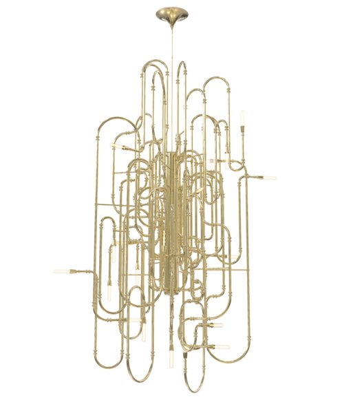 clark xl chandelier lamps 3d obj