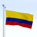 Colombia flag 3D models