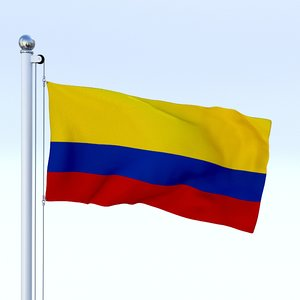 3d model of flag pole