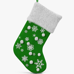 christmas sock 4 fur 3d x