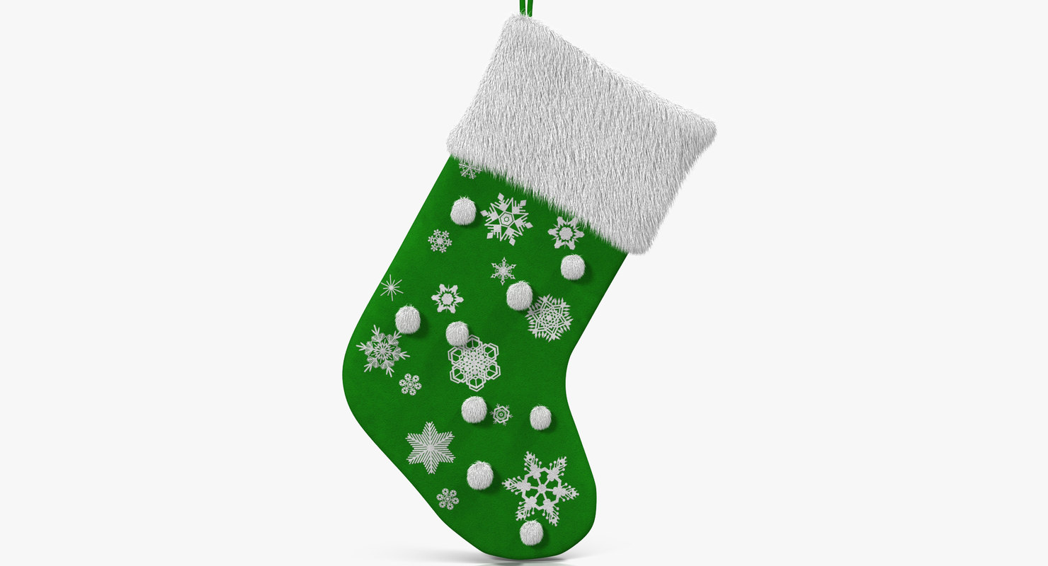 christmas sock 4 fur 3d x
