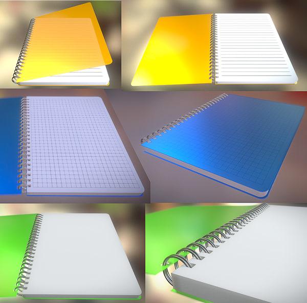 3d model notepad pack