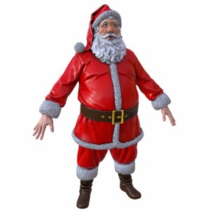 santa claus low-poly 3d max