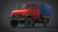 3d truck unimog transport