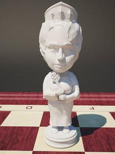 3d model chess valentina matvienko