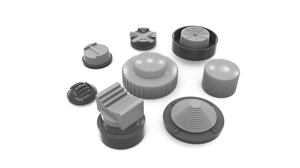 3d model of military aircraft knobs