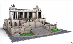 3d altare piazza venezia model