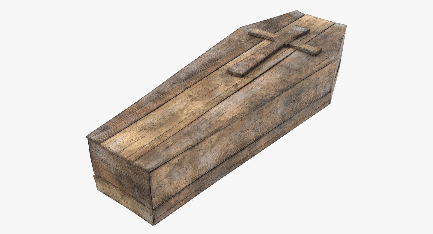 3d coffin 01 model
