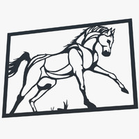 Metal Wall Art Horse
