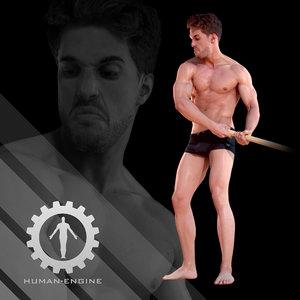 3d model of male scan - mick