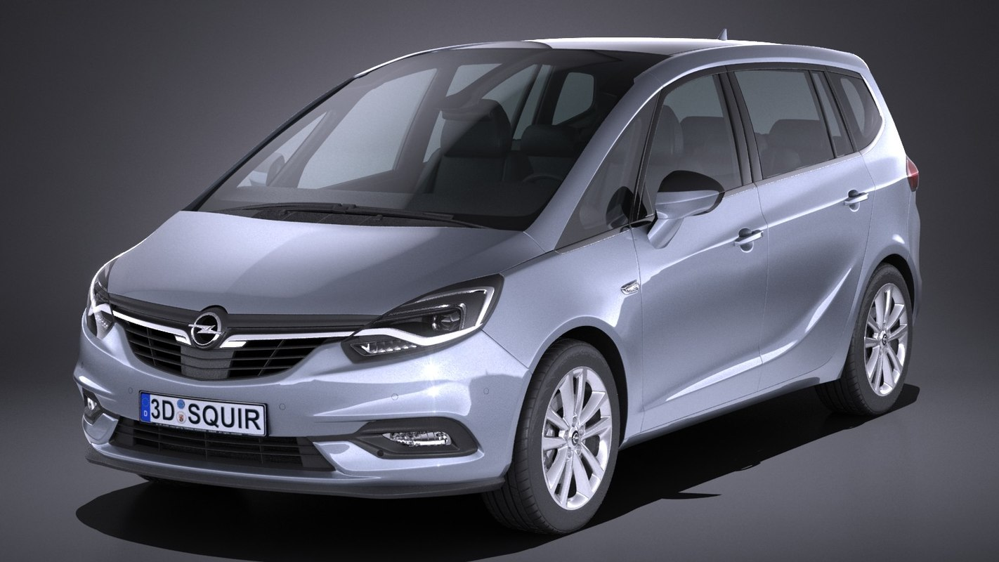 3d model opel zafira 2017