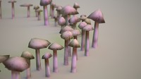 Mushroom Ring Low Poly Ground Cover