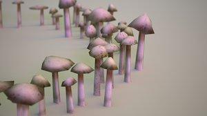 3d mushroom ring