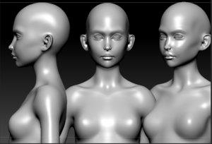 3d female petite