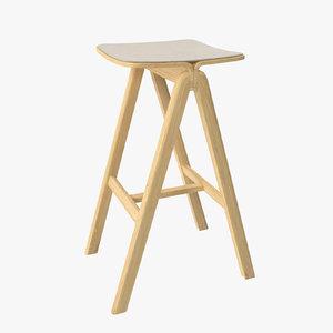 hay copenhague bar stool 3d max