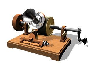 3d model phonograph edison