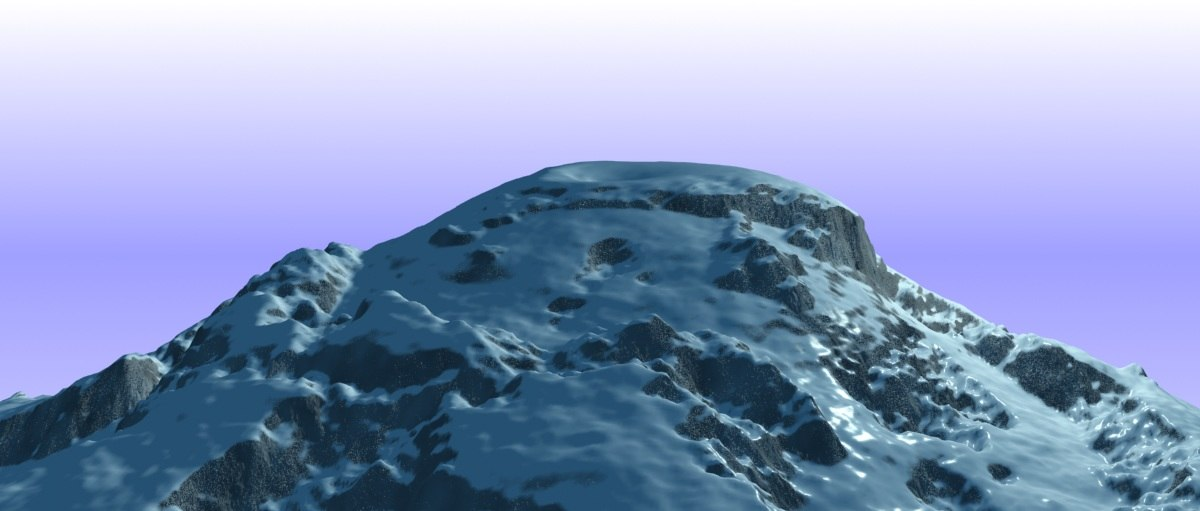 snowy mountain variations 3d max