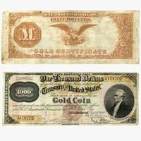 3d model 1000 gold 1882 bill