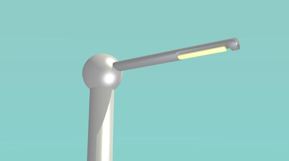 modern lamp post 3d dxf