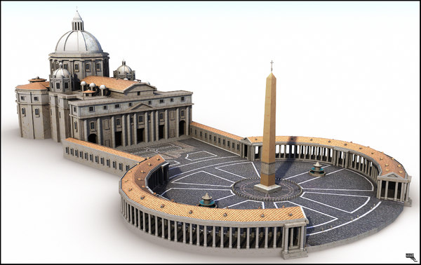 piazza st peter 3d model