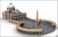 piazza st peter 3d model