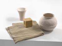soap towel vases 3d model