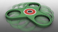 3D Printable Fidget Toy - Triangle Bearing Spinner