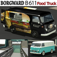 borgward b 611 food 3d model