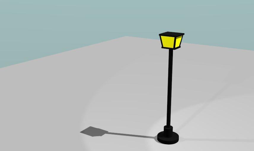 3d model british street lamp