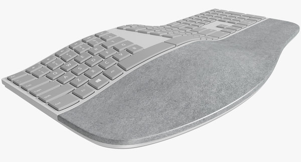 3d model realistic microsoft surface ergonomic