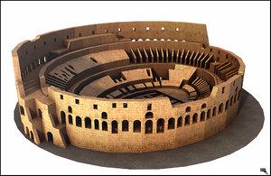 3d model rome colosseum