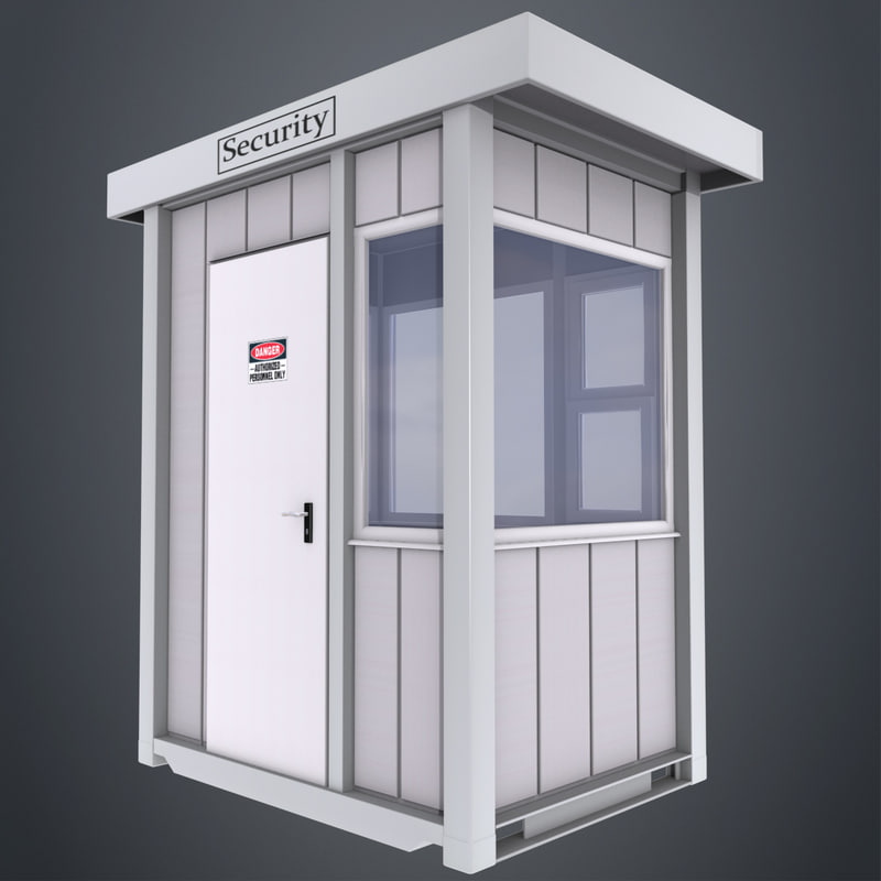 3d security booth model