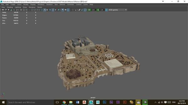 3d meereen thrones intro model
