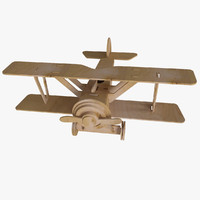 Wooden Model of a Biplane