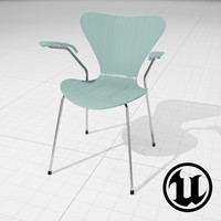 unreal arne jakobsen series 7 3d model