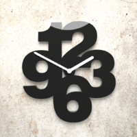 Big number wall clock