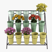 Flower Bucket Display Stand