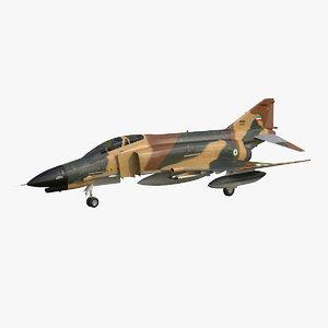f-4 phantom iriaf 3d max