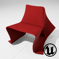 3d unreal olivier gregoire foldchair model