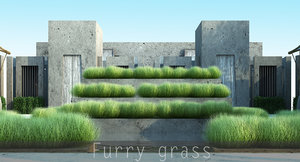 3d grass furry