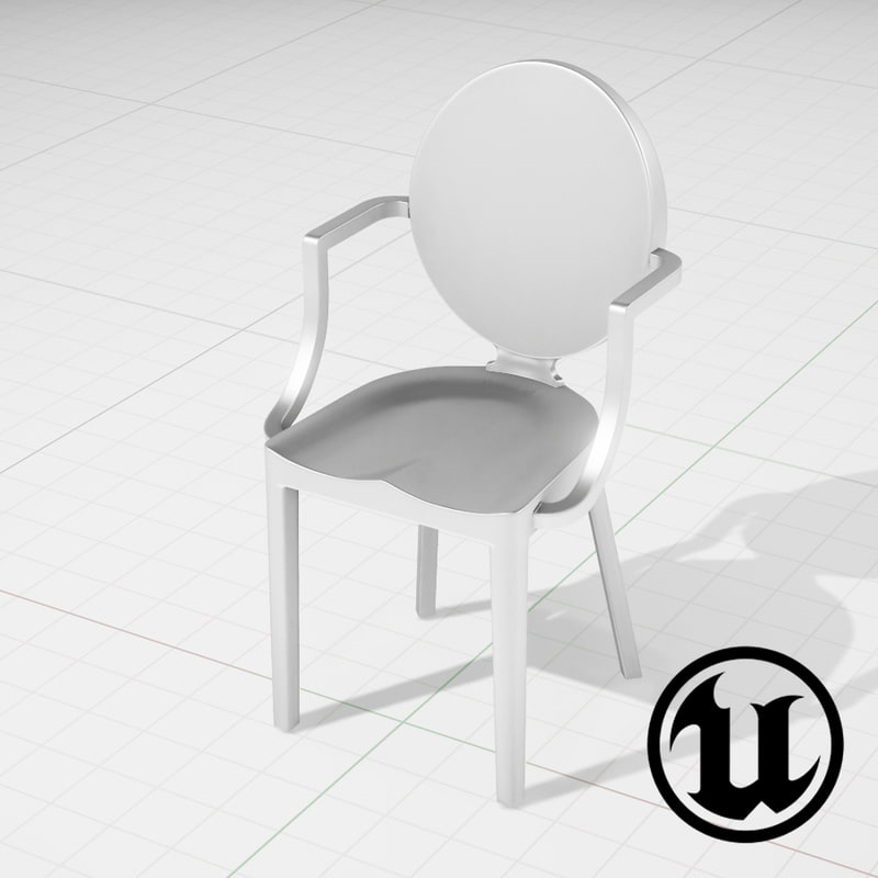 3d unreal kong chair ue4 model